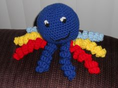 Crocheted octopus baby toy