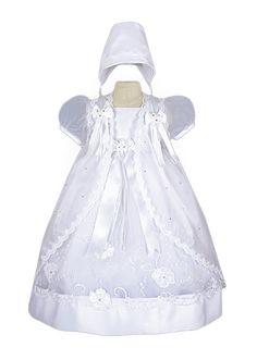Vestido para Batizado Bordado Casaquinho Ornamentado
