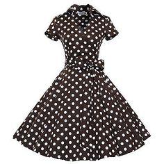 Maggie Tang 50s VTG Pinup Hepburn Rockabilly Business Parka Swing Dress 566