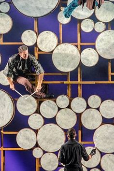 The Royal Gong. The largest gong in the world, a Drum Wall made up of 136 drums resound throughout Quantum of the Seas' 1,300-seat Royal Theater.