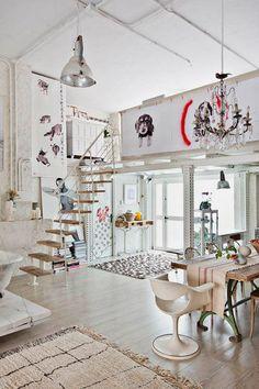 bohemian style apartments Bohemian Loft Apartments In Madrid