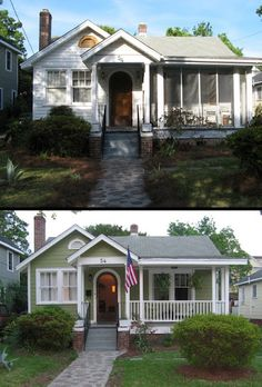 curb appeal upgrade with paint and restyling of the porch