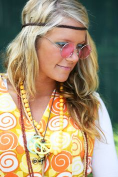 Hairbands  granny glasses  beads  wild prints  unstyled hair