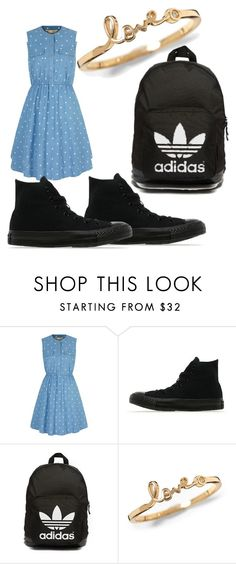 """Tom Boy"" by samanthagonzalez273 ❤ liked on Polyvore featuring Yumi, Converse, adidas Originals, women's clothing, women, female, woman, misses and juniors"