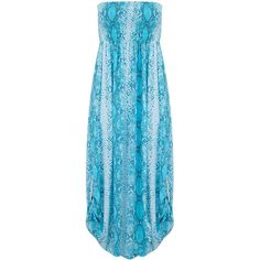 BETH AND TRACIE Emily Maxi Snake Print Dress - Ocean ($230) ❤ liked on Polyvore featuring dresses, ocean, summer maxi dresses, ruched maxi skirt, beach maxi dress, sequin cocktail dresses and maxi dresses