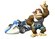 Mario Kart (Nintendo Wii) artwork from the game featuring all the main characters and their karts, concept artwork as well as items and powerups. Mario Kart Characters, Kart Racing, Super Mario Brothers, The Brethren, First Game, Bowser, Card Games, Videogames, Music