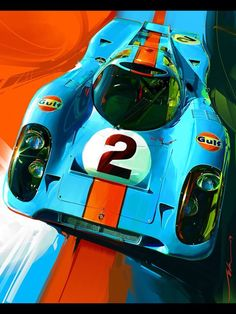 Porsche 917 by Hyundai designer John Krsteski Ferdinand Porsche, Auto Poster, Car Posters, Sport Cars, Race Cars, Le Mans 24, Car Illustration, Illustrations, Porsche Panamera