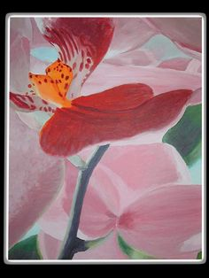 Orchidea Akryl na plátne, 50x40 Painting, Art, Art Background, Painting Art, Kunst, Paintings, Performing Arts, Painted Canvas, Drawings