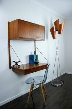Danish Wall Unit Desk System Retro Vintage Sideboard Kai Kristiansen Ladderax St