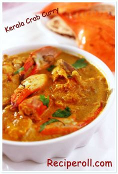 Crab Curry/Kerala Style Crab Curry in Coconut Milk ~ Sankeerthanam (Reciperoll.com) Recipes   Cake Decorations   Cup Cakes  Food Photos