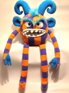 Kooky Monster Plush Toy Mo Mo by htavos on Etsy