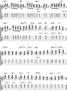 jazz guitar lessons misty chord melody chart modal breakdown videos guitars