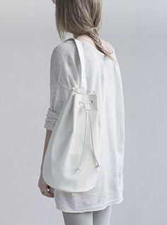 Mum & Co Bucket Bag in White, $95