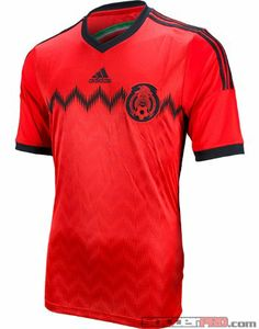 New Red ADIDAS Mexico World Cup 2014 Away FMF Soccer Jersey S 381edf928