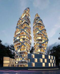 Architecture Romane, Architecture Résidentielle, Romanesque Architecture, Classic Architecture, Futuristic Architecture, Beautiful Architecture, Sustainable Architecture, Contemporary Architecture, Japanese Architecture