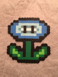 Super Mario Ice Flower Perler Hama Bead Pattern- Melty Beads- Click for more patterns and designs.