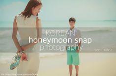 Have you seen 'Honeymoon snap' photos of Korea? These days, lots of Korean couples take honeymoon snap photos to remember their precious moment!