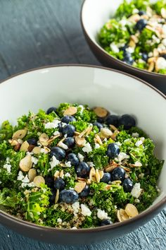 This filling and fresh Blueberry, Kale, and Quinoa Salad just happens to be…