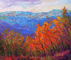 Cadmium Flame by Erin Hanson. Cedar Breaks NP