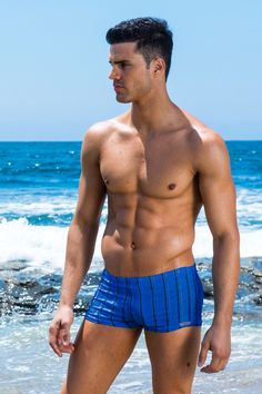 Capri Stripe SqaureCut Royal