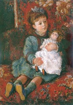Claude Monet - Germaine Hoschede With a Doll, 1876/77