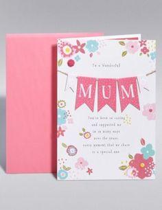 Mum Card - M & S