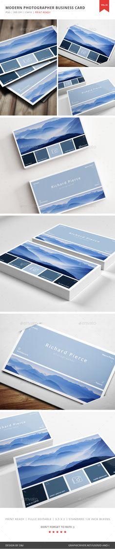 Modern Photographer Business Card Vol. 56 - Creative Business Card Template PSD. Download here: http://graphicriver.net/item/modern-photographer-business-card-vol-56/16601339?s_rank=222&ref=yinkira