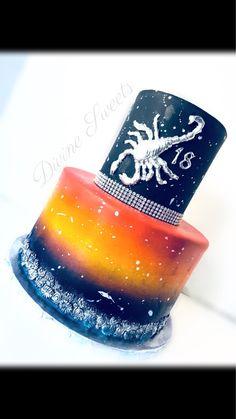 Scorpio Birthday Cake Scorpio Birthday, Shot Glass, Birthday Cake, Cakes, Tableware, Birthday Cakes, Dinnerware, Dishes, Shot Glasses