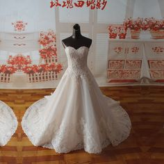 Lace Wedding Dress Chapel Train 0050 · Onlyforbrides · Online Store Powered by Storenvy