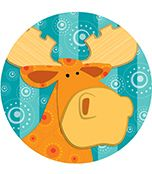 Moose & Friends Two-Sided Decoration