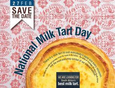 National Milk Tart Collection @Mar Milk Tart, Tart Collections, Custard Tart, Tarts, Nostalgia, Baking, Day, Cake Rolls, Bread Making