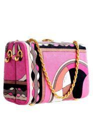 Emilio Pucci pink pocketbook