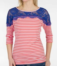BKE Striped Top - Women's Shirts/Tops | Buckle