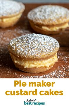 Mini Pie Recipes, Sweet Recipes, Baking Recipes, Dessert Recipes, Custard Cake, Sponge Cake Recipes, Easy Pie, Mini Pies, Finger Food