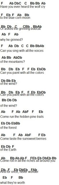 Flute Sheet Music: Colors Of The Wind