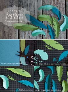 Pretty straightforward and simple but just so you know and can start brainstorming for posters,craft, or gift wrapping-DIY Paper Feathers. Craft Projects For Kids, Diy Projects To Try, Art Projects, Diy Paper, Paper Art, Paper Crafts, Free Paper, Diy Flowers, Paper Flowers