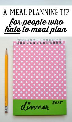 If you like the idea of meal planning, but hate the process of it, this is a super simple thing you can do. Click through to read the post at goodinthesimple.com.