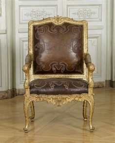 Louis XV chair, carved and gilt wood, 18th century, Château de Versailles | The Red List