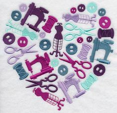 Sewing Themed machine embroidery designs to celebrate National Sewing Month. Machine Embroidery Designs at Embroidery Library! - New This Week