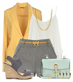 """""""Blazer & Shorts"""" by colierollers on Polyvore"""