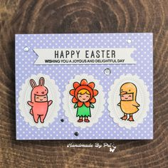 Easter Cuties Mini Picture Frames, Happy Easter Wishes, Easter Party, Lawn Fawn, My Stamp, Special Day, Card Stock, Stencils, Banner