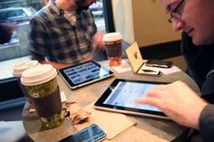 No more newspapers in your local coffee shop...now complimentary iPads!