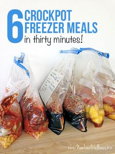 How to make 6 Crockpot Freezer Meals in 30 Minutes!!