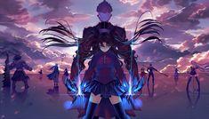 Anime Fate/Stay Night: Unlimited Blade Works  Archer (Fate/Stay Night) Rin Tohsaka Fondo de Pantalla