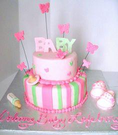 Baby shower cake for a girl by J Zammar