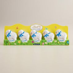 One of my favorite discoveries at WorldMarket.com: Lindt Mini Lambs, 5-Piece I always love to throw something different into every Easter basket. How could you not love these.....