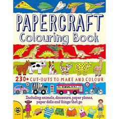 Buy Papercraft Colouring Book & Models Set Online at johnlewis.com