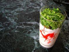 Homenaje a Santamaría: brócoli rallado con yogur y huevas de merluza | El Comidista EL PAÍS