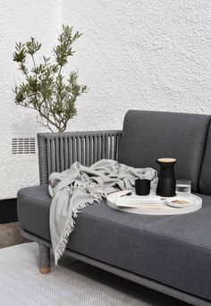 I've teamed up with Danish outdoor furniture brand Cane-line to show how to turn your garden into a stylish and comfortable extension of your living space. Diy Outdoor Furniture, Outdoor Rugs, Outdoor Living, Outdoor Decor, Chair Cushion Covers, Paving Stones, Al Fresco Dining, Scatter Cushions, Lounge Areas