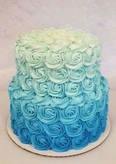 ombre rosette cake - with Maui and Moana toppers